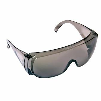 Óculos de segurança cinza isolados