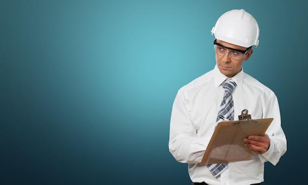 Óculos de segurança para inspetor de construção