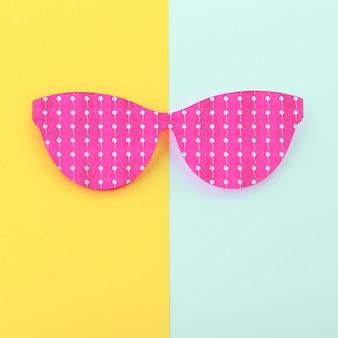 Óculos de sol engraçados da moda. verão, pandas, abacaxis. estilo baunilha