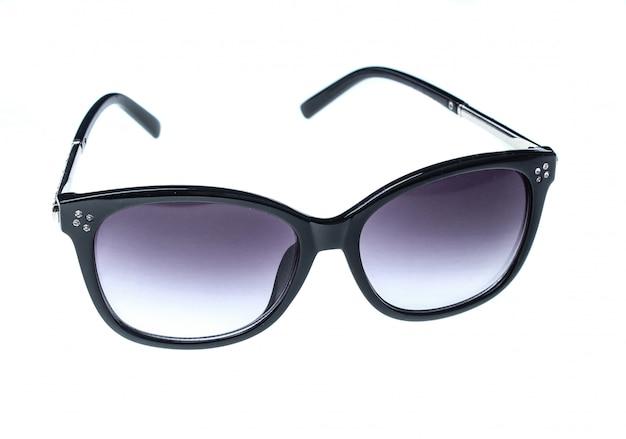 Óculos de sol gradiente preto isolados