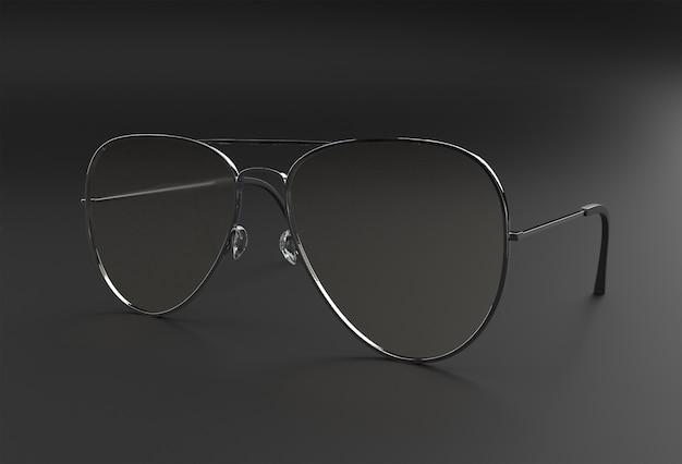 Óculos de sol modernos. ilustração 3d render