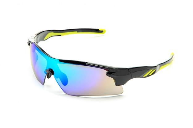 Óculos de sol pretos elegantes modernos da bicicleta dos esportes