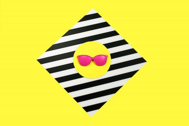 Óculos de sol rosa moda pintados