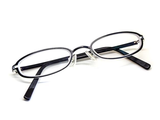 Óculos isolados no fundo branco