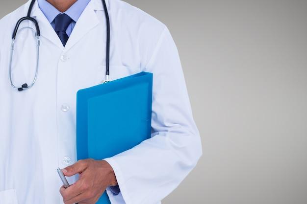 Ocupação médica cor vinheta estetoscópio
