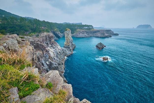 Oedolgae rock, ilha de jeju, coréia do sul