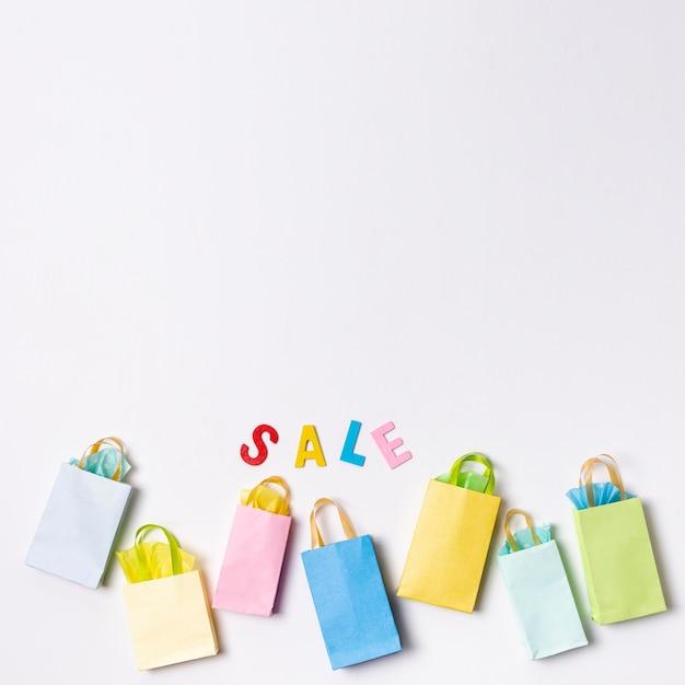 Ofertas com conceito de sacos de papel