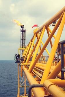 Offshore the industry oleoduto de produção de petróleo e gás.