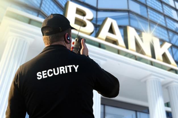 Oficial de segurança do banco