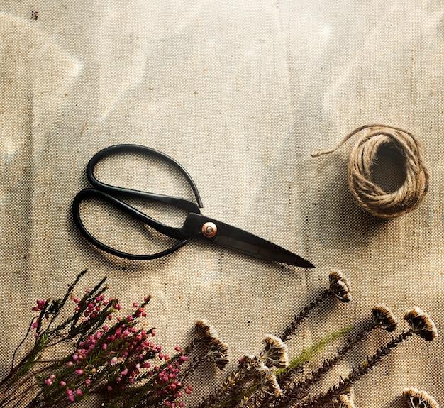 Oficina de artesanato de flores