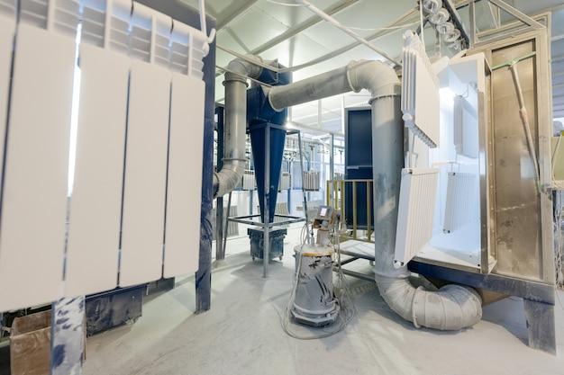 Oficina de montagem e pintura de radiadores de aquecimento doméstico pintura de radiadores de aquecimento