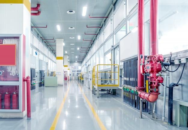 Oficina de produção de fábrica de automóveis