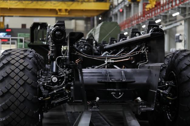 Oficina de produção para produção de chassis e veículos com rodas