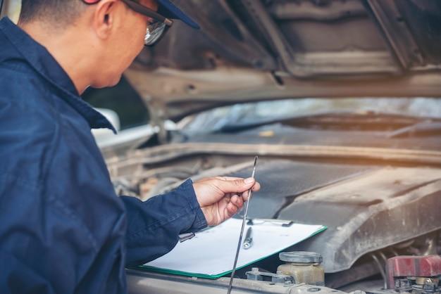 Oficina técnica de reparação de veículos motorizados de serviço de negócios de engenharia mecânica.