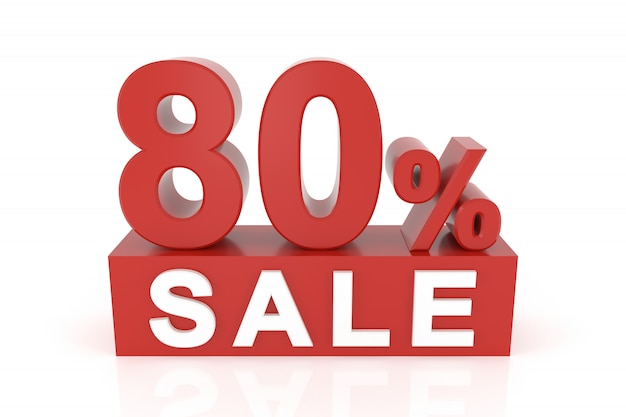 Oitenta por cento de venda