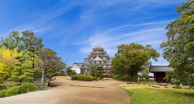 Okayama castle landmark.