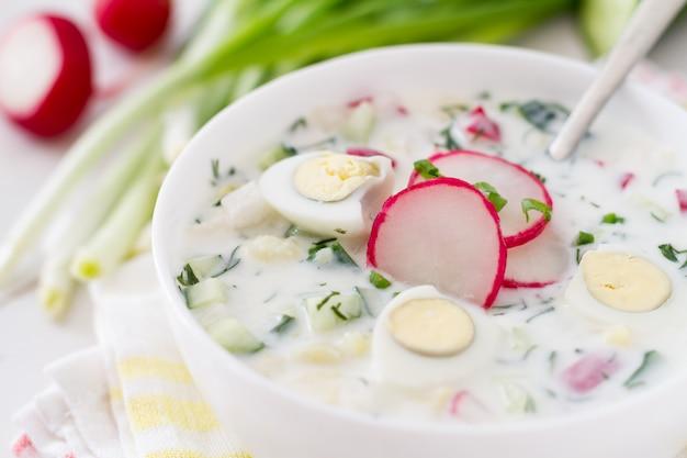 Okroshka - sopa fria de verão tradicional