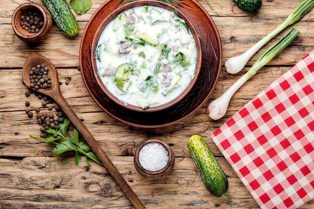 Okroshka, sopa fria de verão