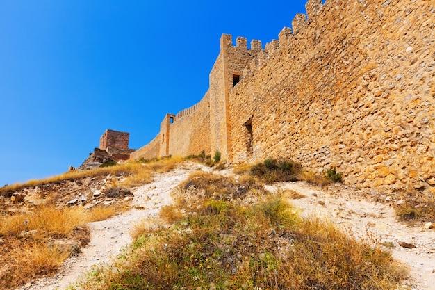 Old fortress wall in albarracin