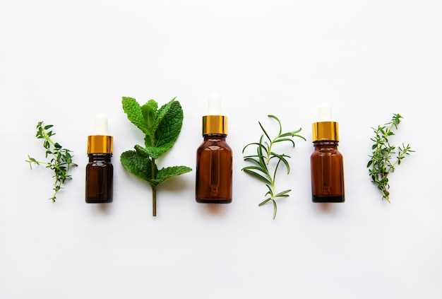 Óleo de aroma com ervas