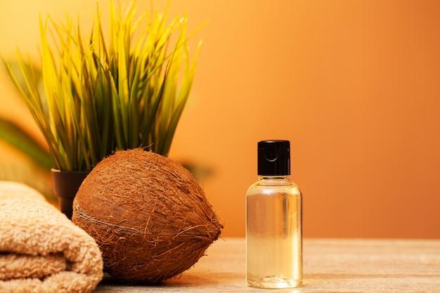 Óleo de coco orgânico natural para cuidados com a pele