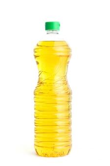 Óleo de cozinha em garrafa de plástico em branco
