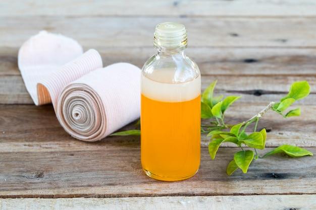 Óleo de ervas para medicação linimento com curativo para dores de saúde