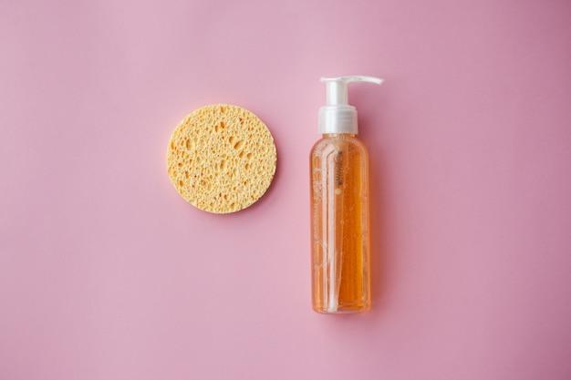 Óleo de limpeza para o rosto ou gel de limpeza com óleos. limpeza da pele, remoção de maquiagem