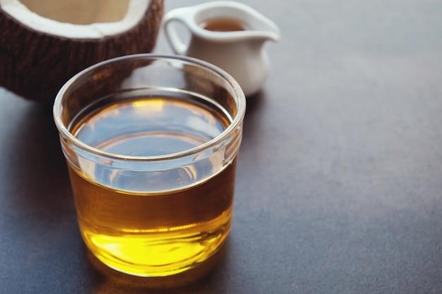 Óleo de mct, óleo de coco saudável