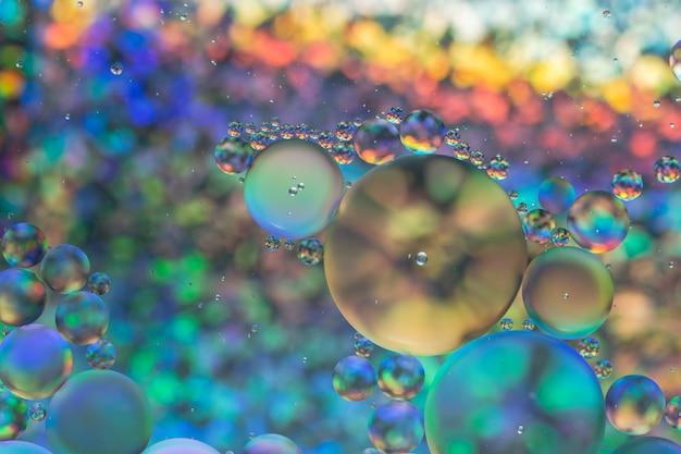 Óleo e água abstrato colorido macro fundo