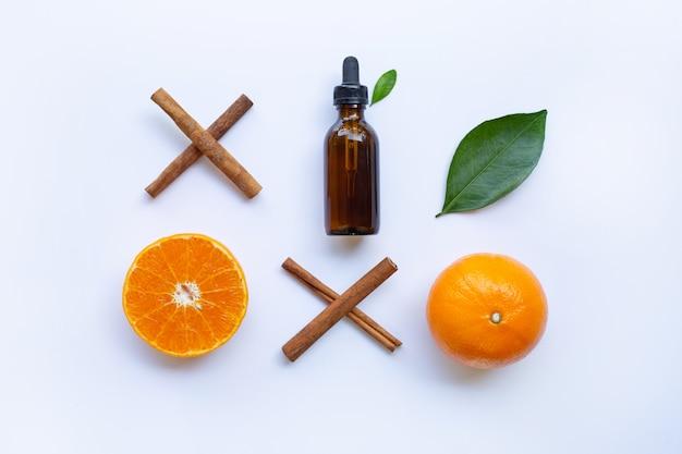 Óleo essencial de laranja e canela