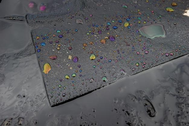 Óleo liso close-up textura de fundo