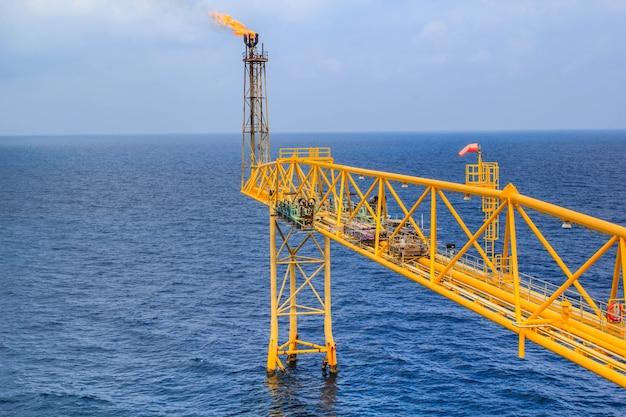 Oleoduto de produção de petróleo e gás da indústria offshore.