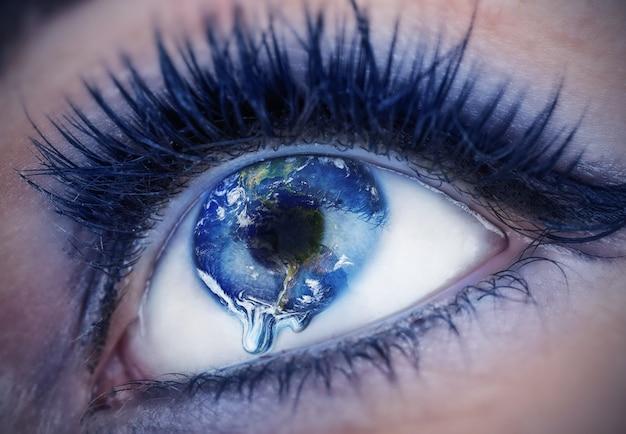 Olho com dentro do mundo