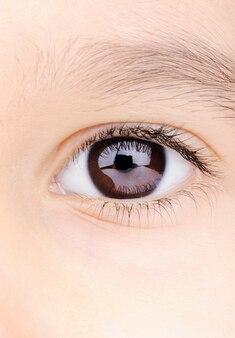 Olho de macro closeup criança