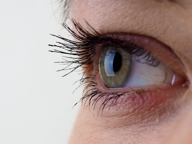 Olhos femininos perto