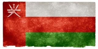 Oman bandeira do grunge com idade