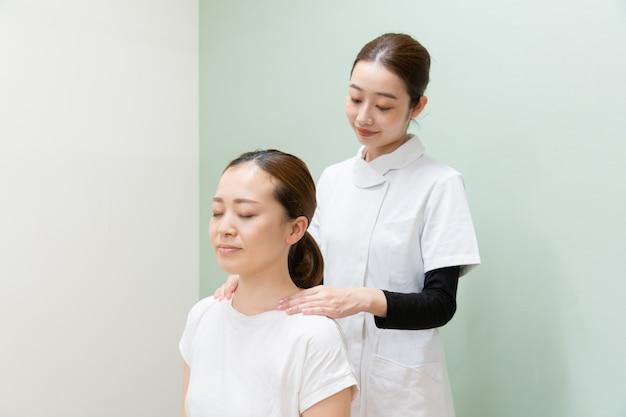 Ombro massagem pescoço