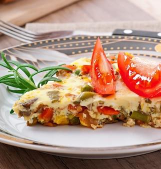 Omelete com legumes