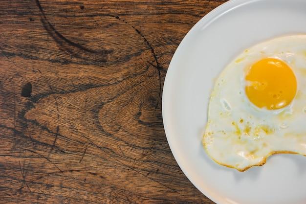Omelete, cozinhado, alimento, tabela, panela