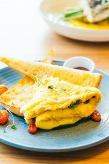 Omelete de spanich em placa