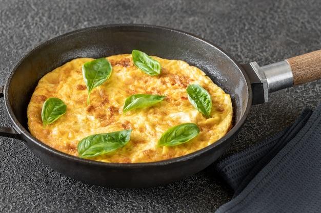 Omelete fresca com legumes