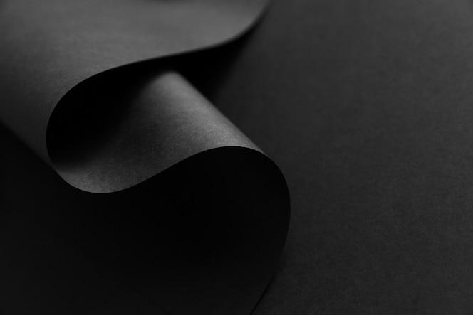 Onda abstrata de borda de papel preto