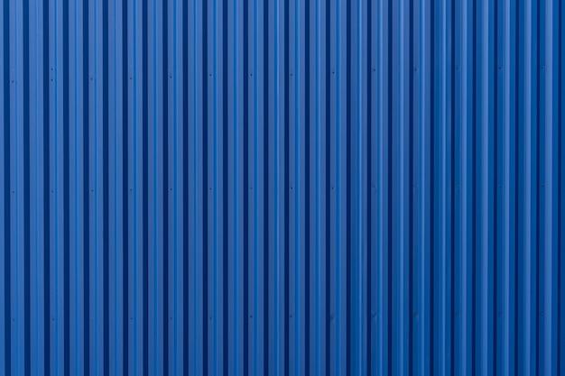 Onda azul listrada folha de metal de aço contêiner de carga linha indústria padrão de textura de parede para o fundo.