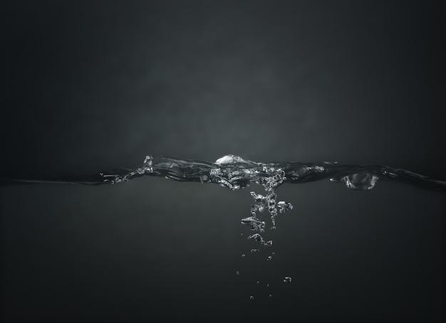 Onda de água em um escuro