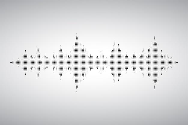 Onda de áudio de smal dost. forma de música de som de voz. ondas do equalizador. ilustração eq.