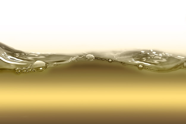 Onda de óleo em um fundo branco