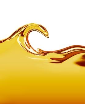Onda de óleo em um fundo brancor