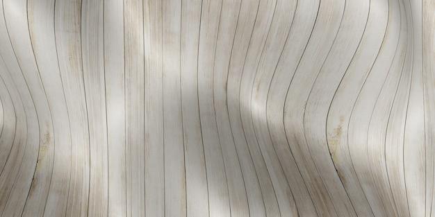Onda de piso de madeira ilustração 3d curva de prancha abstrata de fundo