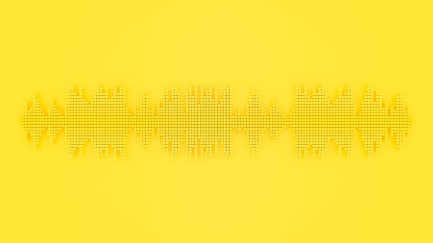 Onda sonora cor amarela.